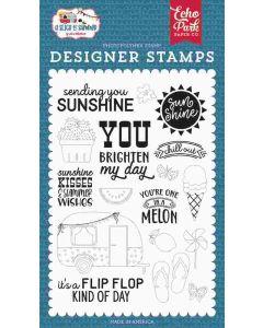 Sending Sunshine Stamps - A Slice of Summer - Echo Park*