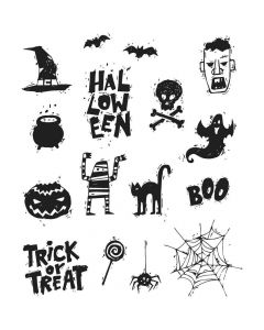 Stampers Anonymous - Tim Holtz Stamps - Spooky Scribbles