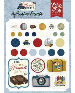 Scenic Route Adhesive Brads - Echo Park*