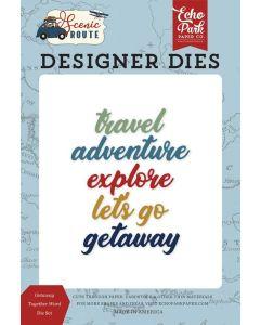 Getaway Together Word Die Set - Scenic Route - Echo Park*