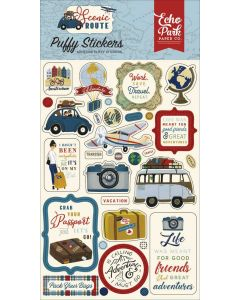 Scenic Route Puffy Stickers - Echo Park*