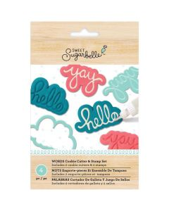 Sweet Sugarbelle word with stamps cookie cutters