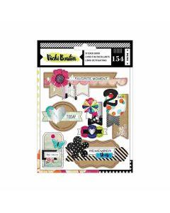 Color Kaleidoscope Sticker Book