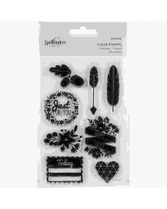 Just for You Clear Acrylic Stamps - Spellbinders - Clearance