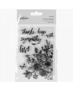 Floral Love Clear Acrylic Stamps - Spellbinders