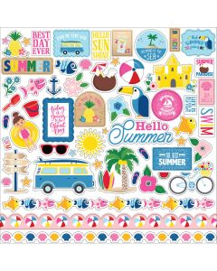 I Love Summer Element Stickers - Echo Park