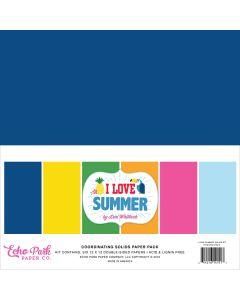 I Love Summer Solids Kit - Echo Park