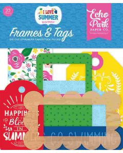 I Love Summer Frames & Tags - Echo Park