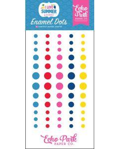 I Love Summer Enamel Dots - Echo Park
