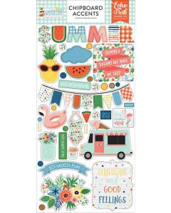 Summertime Chipboard Accents - Echo Park*
