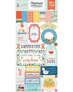 Summertime Chipboard Phrases - Echo Park*