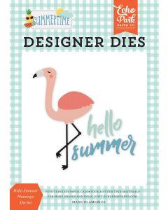 Hello Summer Flamingo Die Set - Summertime - Echo Park*