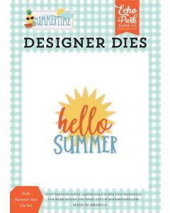 Hello Summer Sun Die Set - Summertime - Echo Park*