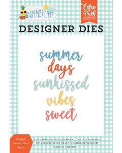 Sun kissed Summer Word Die Set - Summertime - Echo Park*