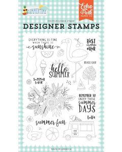 Summer Lovin Stamp Set - Summertime - Echo Park*