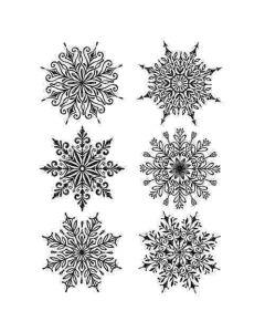 Tim Holtz Swirly Snowflakes Stamp Set