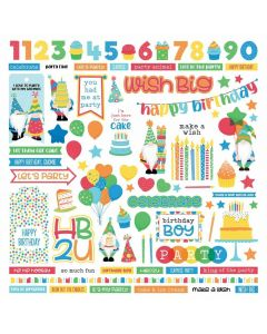 Norbert's Birthday Party Element Stickers - PhotoPlay