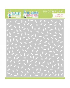 Tulla & Norbert's Birthday Party Confetti Stencil - PhotoPlay