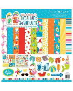 """Tulla & Norbert's Excellent Adventure 12"""" x 12"""" Collection Pack - Becky Moore - PhotoPlay*"""