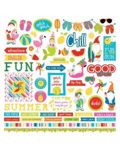Tulla & Norbert's Excellent Adventure Element Stickers - Becky Moore - PhotoPlay*