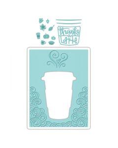 Thanks a Latte embossing folder