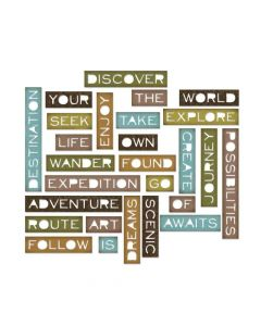 Traveler words dies from Tim Holtz