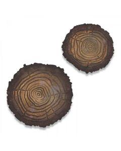 Mini Tree Rings Bigz Die w/ Texture Fades - Tim Holtz - Sizzix