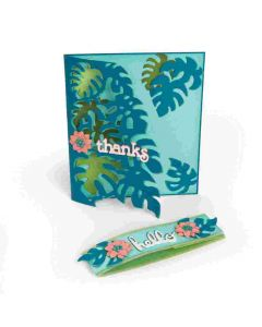 Lynda Kanase Tropicool Leaves Card sizzix die