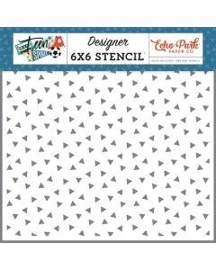 Epic Triangles Stencil - Teen Spirit Boy - Echo Park