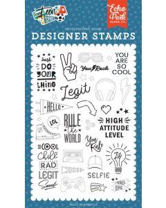Rule the World Stamp Set - Teen Spirit Boy - Echo Park