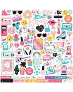 Teen Spirit Girl Element Stickers - Echo Park