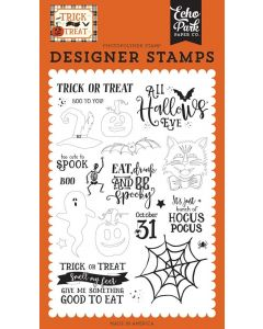 All Hallows Eve Stamp Set - Trick or Treat - Echo Park