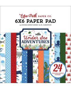 """Under Sea Adventures 6"""" x 6"""" Paper Pad - Echo Park"""