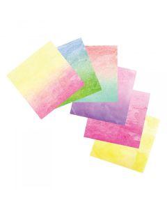 "Sizzix Watercolor Wash Adhesive Sheets - 6"" x 6"", Assorted, 12 Sheets"