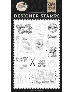Sent By Air Stamp Set - Witches & Wizards - Echo Park*