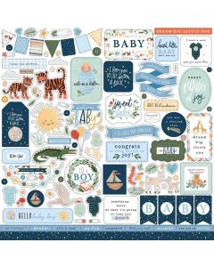 Welcome Baby Boy Element Stickers - Echo Park