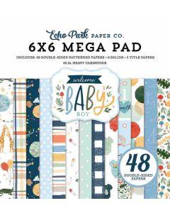 Welcome Baby Boy Cardmakers Mega Pad - Echo Park