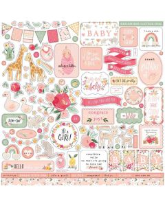 Welcome Baby Girl Element Stickers - Echo Park