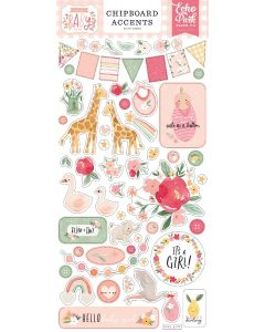 Welcome Baby Girl Chipboard Accents - Echo Park