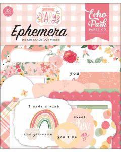 Welcome Baby Girl Ephemera - Echo Park