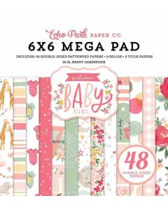 Welcome Baby Girl Cardmakers Mega Pad - Echo Park