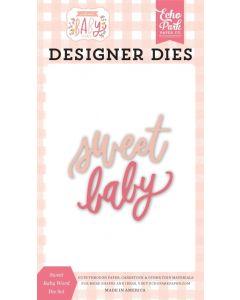 Sweet Baby Word Dies - Welcome Baby Girl - Echo Park