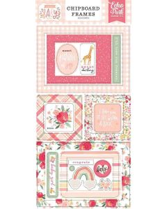 Welcome Baby Girl Chipboard Frames - Echo Park