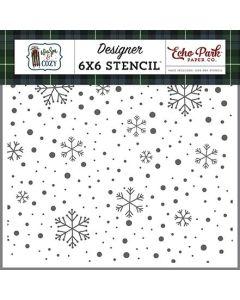 Cozy Snowflakes Stencil - Warm & Cozy - Echo Park