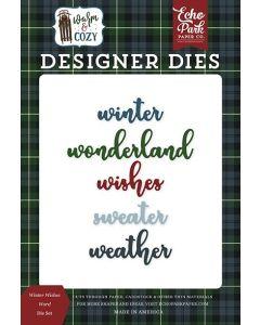 Winter Wishes Word Die Set - Warm & Cozy - Echo Park