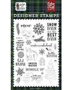 Snow Days Stamp Set - Warm & Cozy - Echo Park