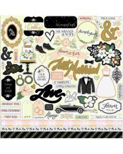 Wedding Day Element Stickers - Jen Allyson - Echo Park