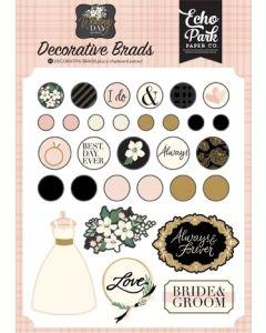 Wedding Day Decorative Brads - Jen Allyson - Echo Park