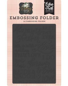 Always & Forever Embossing Folder - Wedding Day - Jen Allyson - Echo Park