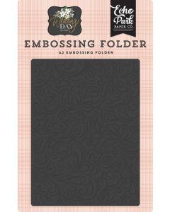 Elegant Damask Embossing Folder - Wedding Day - Jen Allyson - Echo Park